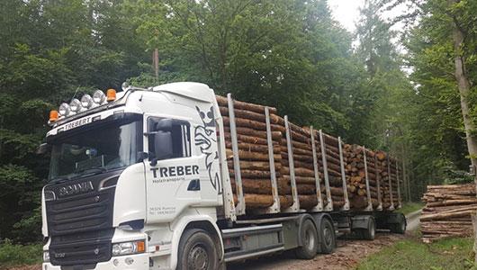 Kurzholztransporte als Bild in klein