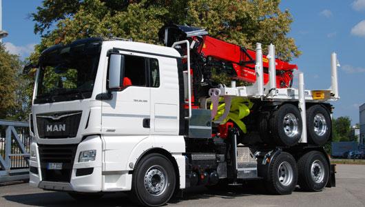 Bild von neuem LKW für den Holztransport