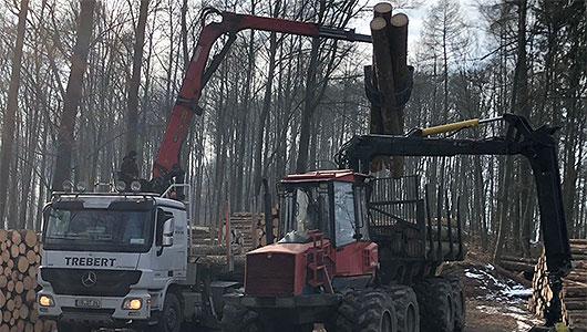 Der Kurholztransport mit dem Kran