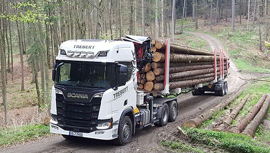 Dieses Bild zeigt den Langholztransport