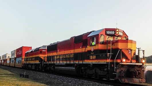 Holztransporte mit Bahnverladung/Waggonverladung